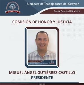 Comisión de Honor y Justicia Presidente