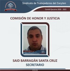 Comisión de Honor y Justicia Secretario